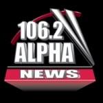 Logo da emissora Alpha News 106.2 FM
