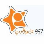 Logo da emissora Radio Rythmos 99.7 FM
