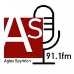 Logo da emissora Agios Spyridon 91.1 FM
