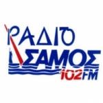 Logo da emissora Radio Samos 102 FM