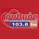 Logo da emissora Rythmos 103.8 FM