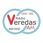 Logo da emissora Rádio Veredas 650 AM