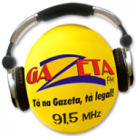 Logo da emissora Rádio Gazeta 91.5 FM