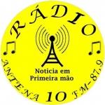 Logo da emissora Rádio Antena 10 87.9 FM