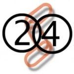 Logo da emissora 24 Horas Rádio
