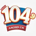 Logo da emissora Rádio Amorim 104.9 FM