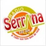 Logo da emissora Rádio Serrana 590 AM