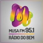 Logo da emissora Rádio Musa 95.1 FM