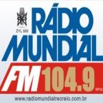 Logo da emissora Rádio Mundial Recreio 104.9 FM