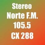 Logo da emissora Radio Stereo Norte 105.5 FM