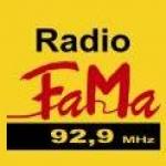 Logo da emissora Radio FaMa 92.9 FM