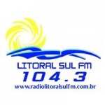 Logo da emissora Rádio Litoral Sul 104.3 FM