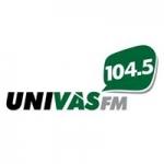 Logo da emissora Rádio Univas 104.5 FM