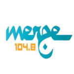 Logo da emissora Rádio Merge 104.8 FM
