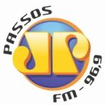 Logo da emissora Rádio Jovempan 96.9 FM