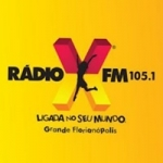 Logo da emissora Rádio X Floripa 105.1 FM