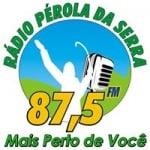 Logo da emissora Rádio Pérola da Serra 87.5 FM