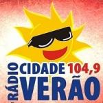 Logo da emissora Rádio Cidade Verão 104.9 FM