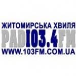 Logo da emissora Zhytomyrska ODTRK 103.4 FM