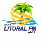Logo da emissora Rádio Litoral 104.9 FM
