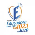 Logo da emissora Rádio Educadora do Cariri 102.1 FM