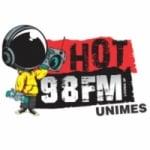 Logo da emissora Rádio Hot 98 FM