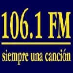 Logo da emissora Radio La 106 Siempre Una Canción 106.1 FM