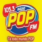 Logo da emissora Rádio Pop 105.3 FM