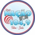 Logo da emissora Rádio Nação 104.9 FM