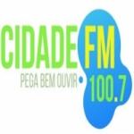 Logo da emissora Rádio Cidade 100.7 FM