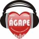 Logo da emissora Rádio Ágape 1400 AM