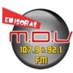 Logo da emissora Radio MDV 107.9 FM 92.1 FM