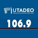 Logo da emissora Radio HJUT 106.9 FM
