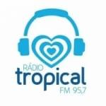 Logo da emissora Rádio Tropical 95.7 FM