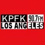 Logo da emissora Radio KPFK 90.7 FM