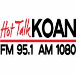 Logo da emissora Hot Talk KOAN 95.1 FM