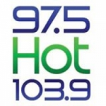 Logo da emissora Hot 97.5 FM - 103.9 FM KMVA