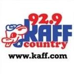 Logo da emissora KAFF 92.9 FM Country