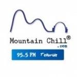 Logo da emissora KRKQ 95.5 FM Mountain Chill
