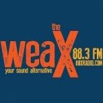 Logo da emissora Radio WEAX 88.3 The X FM
