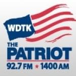 Logo da emissora WDTK 1400 AM The Patriot