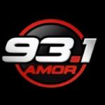 Logo da emissora Radio AMOR 93.1 FM