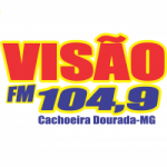 Logo da emissora Rádio Visão 104.9 FM