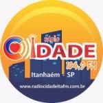 Logo da emissora Rádio Cidade Itanhaém 104.9 FM
