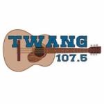 Logo da emissora KRPM Twang 107.5 FM