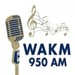 Logo da emissora WAKM 950 AM