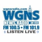 Logo da emissora WGNS 1450 AM