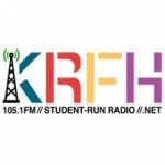 Logo da emissora Radio KRFH 105.1 FM