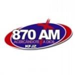 Logo da emissora KFJZ 870 AM