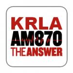 Logo da emissora Radio KRLA 870 AM